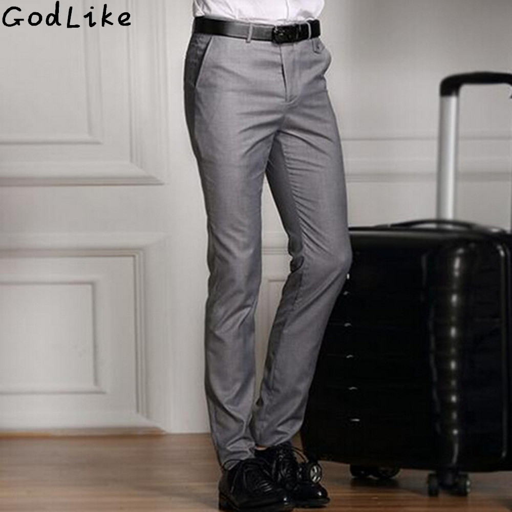 2017 Spring And Summer Male Casual Dress Pants Slim Skinny Men Suit Pants Commercial Western-Style Business Herren Hose