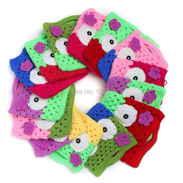 14 Colors Children Handbags For Girls Crochet Owl Bag Baby Knitted