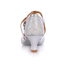 High Quality Adult Latin Shoes Gold And Sliver Glitter Dancing Shoes For Women Ballroom Salsa Latin Tango Dance Shoes 5cm Heel
