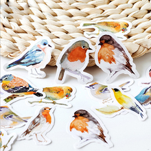 45 Pcs/box Cute bird paper sticker DIY decoration stickers diary photo album scrapbooking planner label