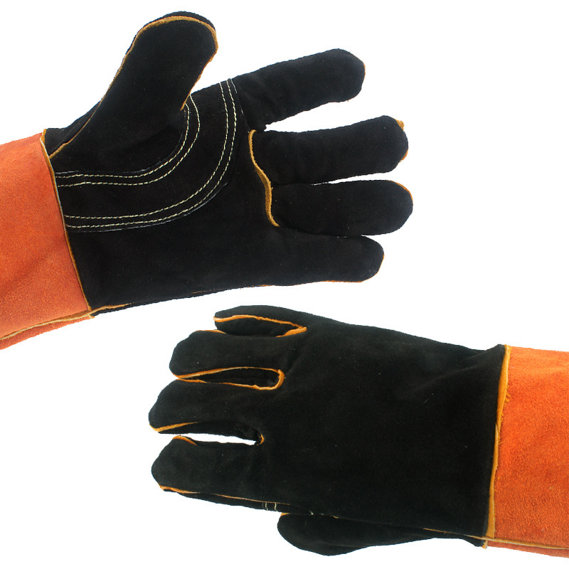 Image 3 - BBQ Gloves Camping Fire Barbecue Leather High Temperature Protective Gloves For Camping Picnic Barbecue Equipment-in Outdoor Tools from Sports & Entertainment
