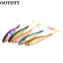 OOTDTY 5 Pcs Fishing Baits Soft Artificial Fish Concave Lure 9cm 5g Mixed Colors Vivid  Bait