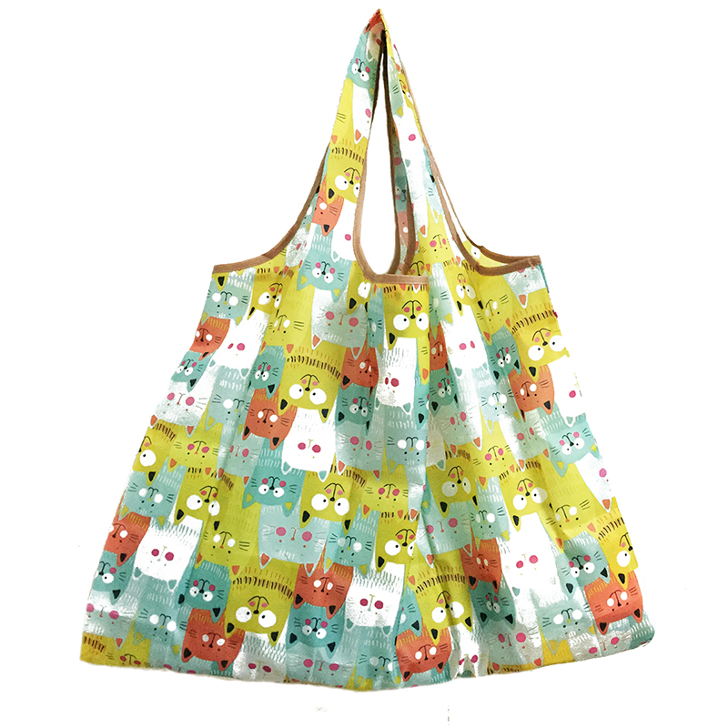 Foldable Handy Shopping Bag Reusable Tote Pouch Recycle Storage Handbags
