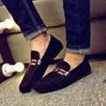 Los hombres zapatos de charol de los hombres casuales resbalón en fresco zapatos de los hombres frescos de oficina de trabajo zapatos blancos de primavera ans verano mocasines