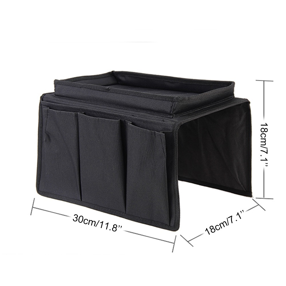 Sofa Organiser 6 Pockets Storage Couch Armrest Tray Remote Gadgets Holder in Bags Baskets from Home Garden