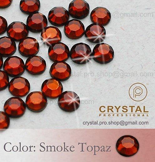 144 pcs. 20ss Smoked Topaz Brown 5mm ss20 glass Crystal hot-fix iron on design DIY Loose beads stone FLATBACK hotfix rhinestones