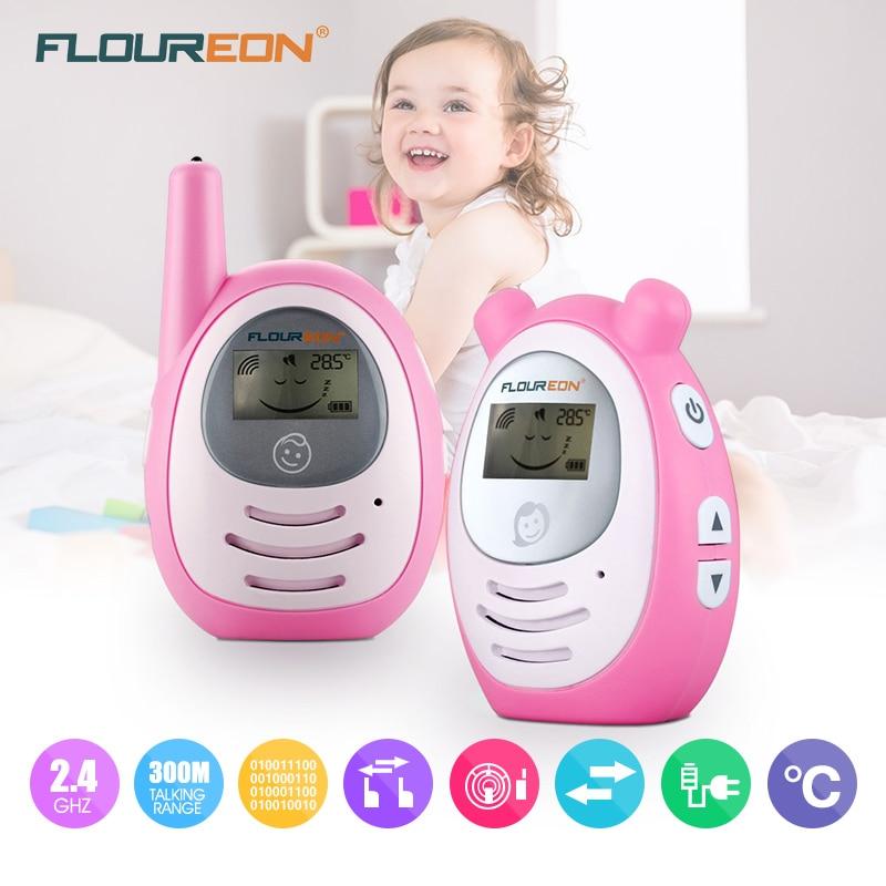 bilder für FLOUREON Digitale Baby Telefon set Portable indoor baby Monitor Drahtlose Übertragung Radio Kindermädchen Digital-wecker Bebe Telefon rosa