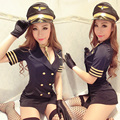 female sexy Uniform costumes performance Ds steel pipe sexy Camouflage military uniform pilot singer dancer party bar prom