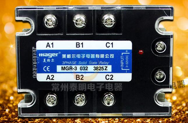 Genuine three-phase solid-state relay relay DC-AC 25A MGR-3 032 3825Z DC-controlled AC genuine three phase solid state relay mgr 3 032 3880z dc ac dc control ac 80a