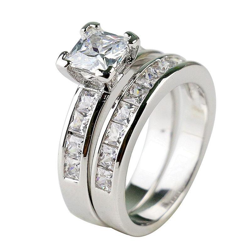 Popular White Gold Princess Cut Engagement Rings Buy Cheap White