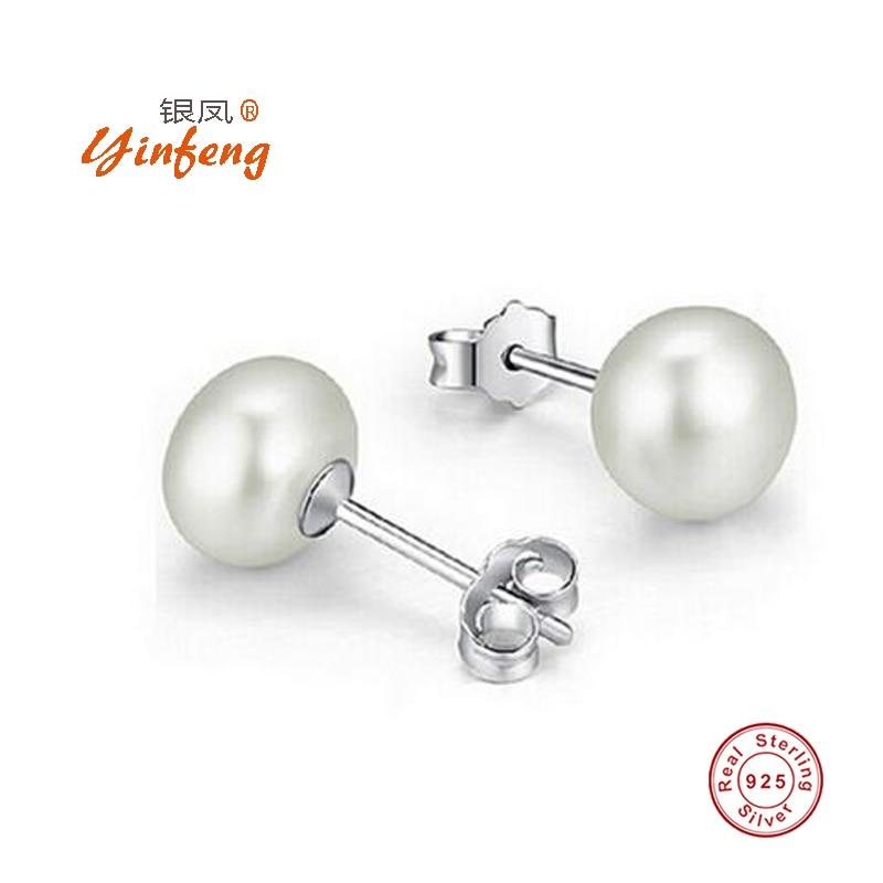 d5aca0a70562  Meibapj  cultura marca perla de agua dulce natural Pendientes para las  mujeres 3 colores clásicos simples pernos prisioneros con caja de regalo  venta al ...