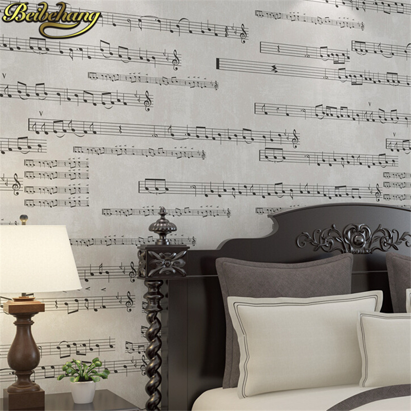 beibehang papel de parede 3D Music Music note piano wallpaper For Walls 3 D wall paper for Living Room bedroom TV background beibehang blue retro nostalgia wallpaper for walls 3d modern wallpaper living room papel de parede 3d wall paper for bedroom