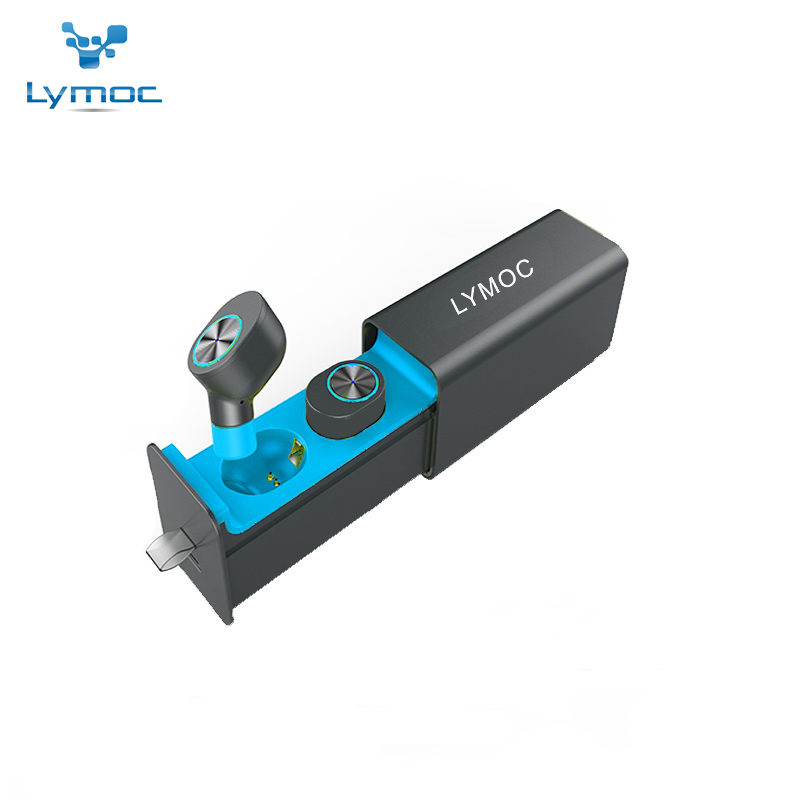 LYMOC GW10 Drawer Type Metal Charger Box TWS Wireless Headset Bluetooth V4.2 Mini Earphones Earbuds Stereo HD MIC for iPhone