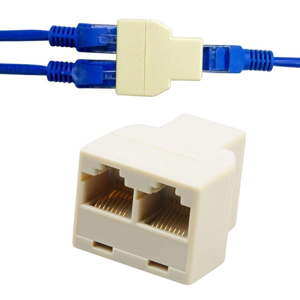 2 шт., универсальный разветвитель для сетевого кабеля, 1-2 канала