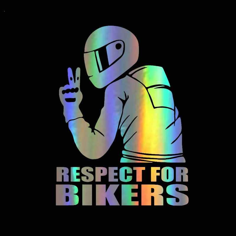 3D เคารพสำหรับนักปั่นจักรยานกันน้ำสะท้อนแสง Biker รถจักรยานยนต์รถ Auto Accessoires สติกเกอร์รูปลอกตลก JDM ไวนิลรถจัดแต่งทรงผม
