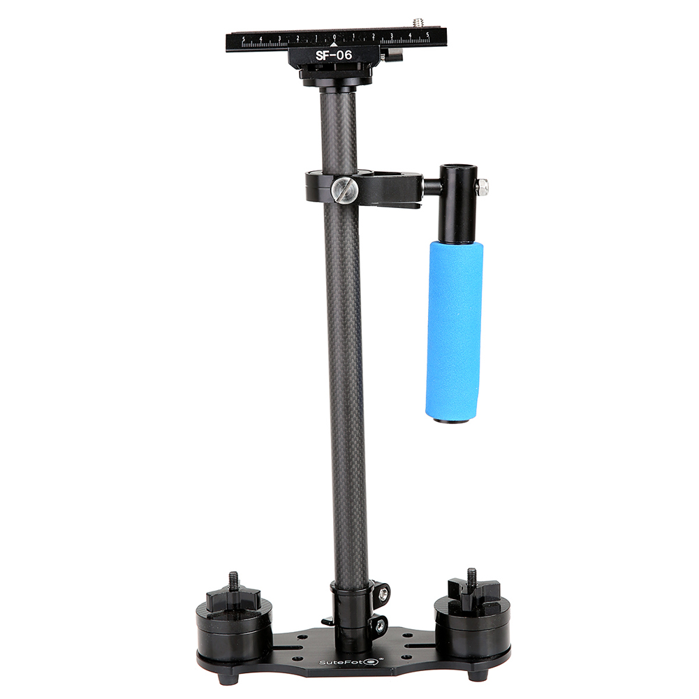 SF-06 Carbon Fiber Handheld Stabilizer Steadicam for Video Camera Camcorder 38-60cm Light Weight Mini Steadycam with Plate ashanks mini carbon fiber handheld