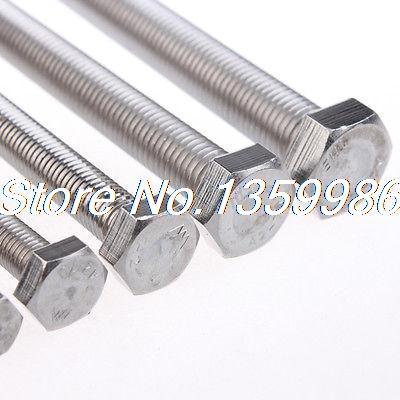 50Pcs 304 Stainless Steel Hexagon Screws External Hex Drive GB Standard M3X20mm