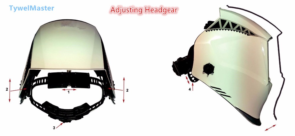 Image 5 - Welding Helmet Premium Mask 100*65mm 1111 4 Sensors Filter Welder Hat Cap Solar Auto Darkening MIG TIG Grinding 3 13 CE UL CSA-in Welding Helmets from Tools