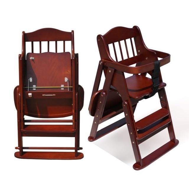 0 8 a os beb plegables silla alta para ni os alimentando for Silla de bebe de madera