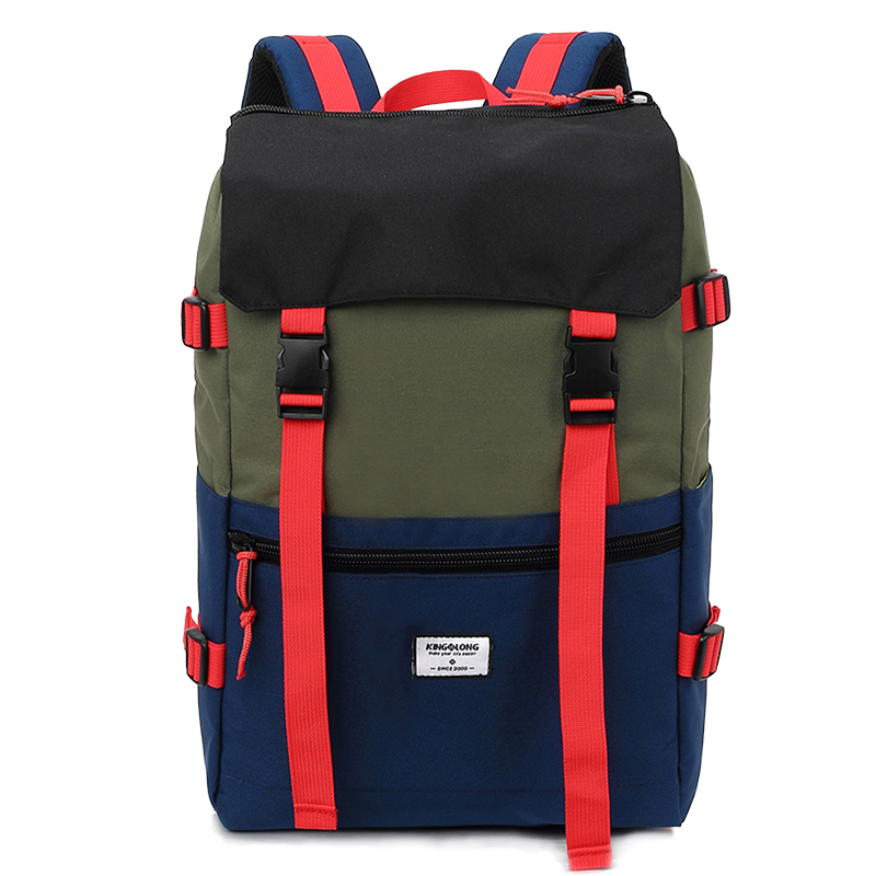 KINGSLONG Travel Men Waterproof Drawstring Bag America Backpack for Laptop Male Large Capacity Bag for Teenagers KLB1342-6 7