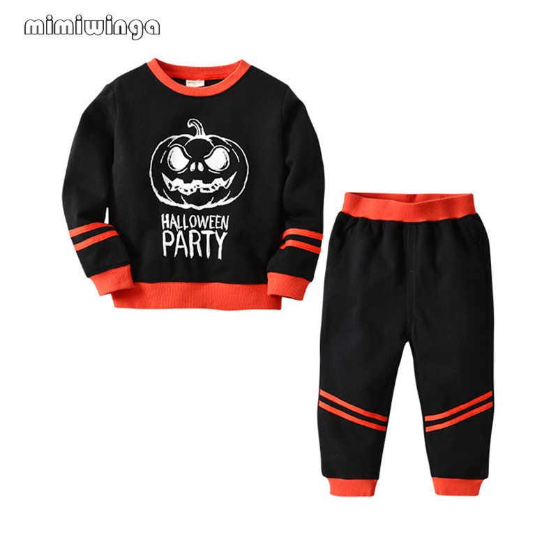 Mimiwinga طفل الفتيان الملابس 1-5 سنوات الاطفال ملابس مجموعة ملابس علوية بأكمام طويلة للربيع T قميص و السراويل 2 قطعة ملابس الأطفال