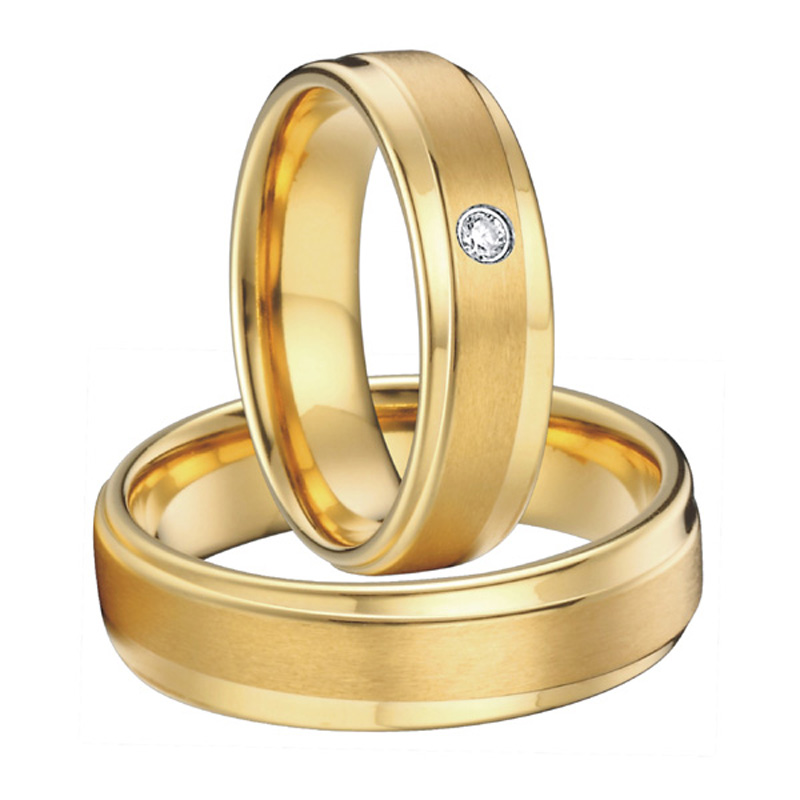 Titanium Male And Female Ring Wedding Band Couple Rings Pair Alliance Aneis Anel Feminino Masculino Anillos Bague In From Jewelry Accessories On