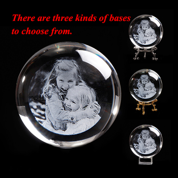 Personalized Custom Gift Glass Photo Ball Laser Engraved Unicorn Gift Wedding Gifts for Guests Souvenir Present for Party Favors 1