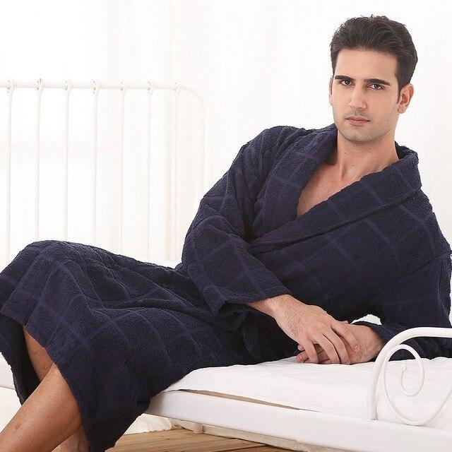 Plus size men bath robe gown brand thicken blanket towel fleece warm home hotel sleepwear women nightgown men autumn winter