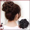 8 Hair Flowers Women Hair Claw Chignon Bride Hair Hairpiece Flowers Buns Updo Curly Wavy Synthetic Hair Extension Styling Tools