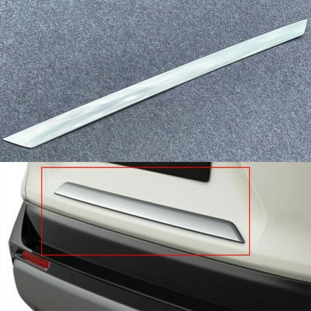 Подходит для Toyota RAV4 2019 2020 хромированная Задняя Крышка багажника край багажника крышка багажника Нижняя крышка отделка МОЛДИНГ ПОЛОСА