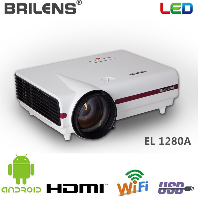 EL1280A Android 3D Full HD lcd video WiFi LED Projector with 2800lms 50000 Hours Proyector LCD Home Beamer for Meeting Teaching