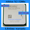 Lifetime warranty Athlon X2 5200+ 2.3GHz 1M Dual Core desktop processors AD5200 CPU Socket AM3 938 pin Computer