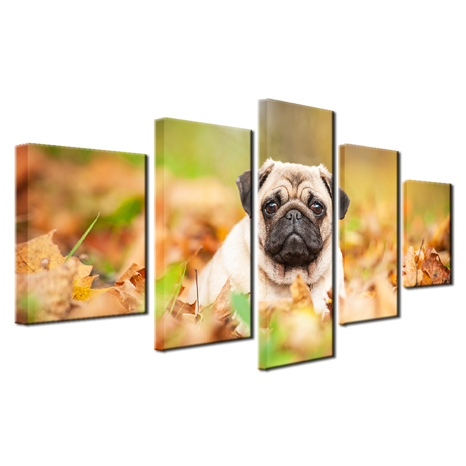 Frame Living Room HD Printed Modern Painting On Canvas 5 Panel Cute ...