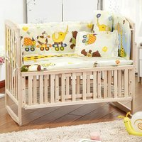 New Cute 100 58cm 110 60cm 5pcs Set Promotion Cotton Baby Children Bedding Set Comfortable Crib