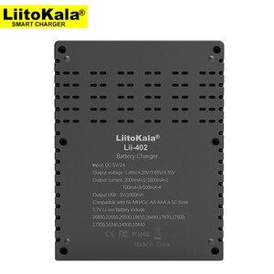 Image 2 - Liitokala cargador Lii S2 Lii 402 18650, carga 18650 1,2 V 3,7 V 3,2 V 18350 26650 NiMH cargador de batería de litio