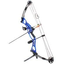 Jagd Archery Compoundbogen 40-60lbs Aluminiumlegierung Slingshot Bogen mit Peep für Erwachsene Jäger Outdoor Jagd Schießen