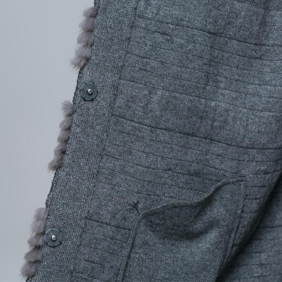 Vêtements Tac1608 Femmes Mode O De Réel Dames Muskrat Tsqsa Survêtement cou Manteau Naturelle Gris Féminins Fourrure Manteaux BgUqdZPw