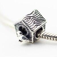Pandulaso בית ציפור אביב בציר קסמי להכנת תכשיטים נשים צמידים & צמידי שרשרת DIY Fit תכשיטי כסף אופנה 925