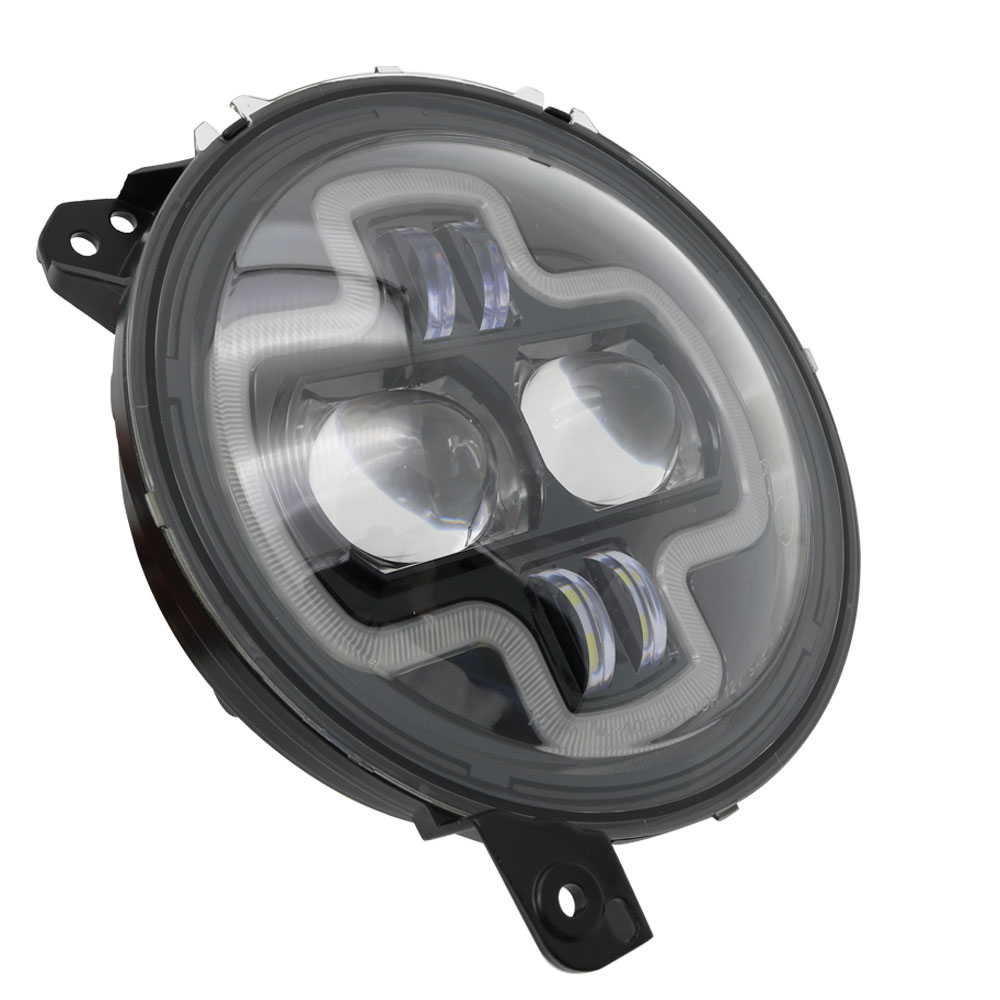 Car Lights 9inch Round LED Headlight White DRL Halo Ring Plug in Play for 2018 2019 Jeep Wrangler JL Car Headlight Assembly (34)