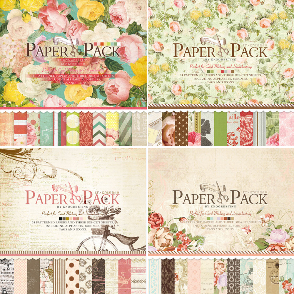Scrapbook paper pads - Aliexpress Com Buy 12 Inch Scrapbooking Paper Pad Vintage Blooming Flower Scrapbook Paper Pack From Reliable Paper Lanterns Wedding Reception Suppliers On