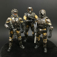 (3 pcs/set) Mnini Army 1:27 the 3rd generation model steel riding sand eagle team Collection Action Figure for Gift