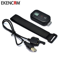 EKENCAM Waterproof 0.8 Inch Wireless Wifi Remote Control for GoPro Hero 4 3+/3 with USB Charger Cable Remoter Camera Accessories