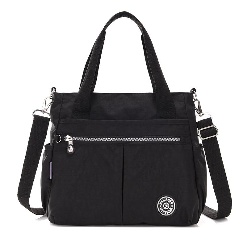 Borse a tracolla da donna Borse da viaggio impermeabili borse a tracolla solido per le donne Moda casual in nylon Tote Crossbody Bag femminile