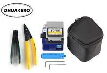 จัดส่งฟรีAB8I FTTH FC 6Sความแม่นยำสูง + 2 Allenประแจ + กระเป๋า + CFS 2 + ProsKit CPFB01 Optical Fiber cleaverเครื่องมือชุด