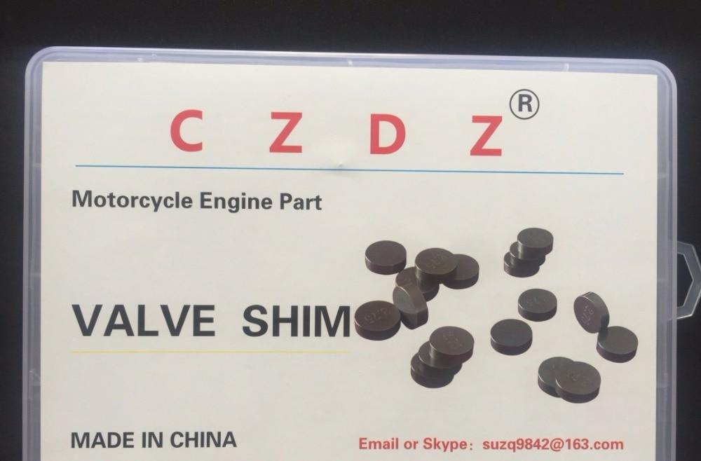 141pcs Motorcycle Engine Parts Adjustable Valve Shim 7.48MM 7.48 mm  Valve Shim Refill Kit For Honda Suzuki Yamaha Kawasaki ER6N
