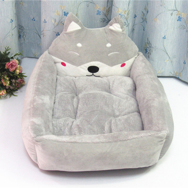 Cute Dog Bed Pad Animal Cartoon Shaped Kennels Lounger Sofa Soft Pet House Dog Bed Mat Big Basket Dog Mattress Pet Supplies 2