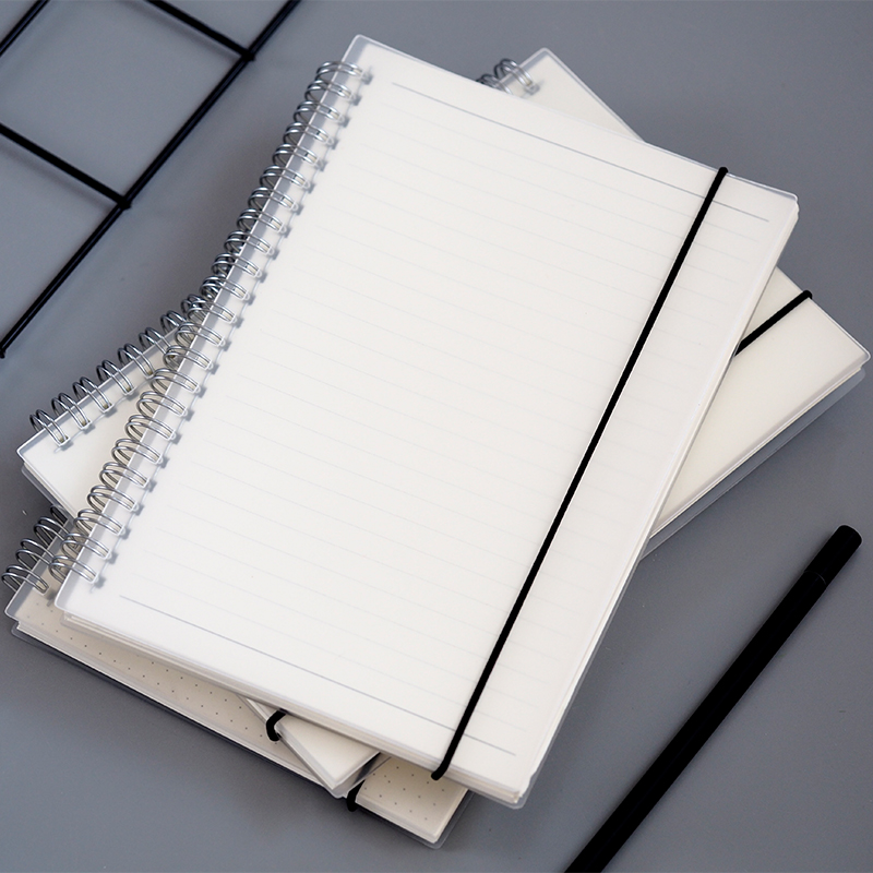 A5 Hard PP Transparent Cover Spiral Notebook Dot/Line/Blank/Grid/Cornell Inner Page with Bandage тюль soft line тюль href page 5 page 2 href