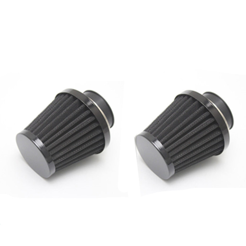 2x Universal 35-60mm Black Air Filter Intake Cleaner Motorcycle Cafe Racer Offroad Jog Joger Stunt Target