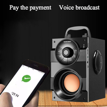 купить S37 Big Power outdoor Bluetooth Speaker Portable Wireless Stereo Bass Subwoofer Speakers Support Remote Control FM Radio TF AUX дешево