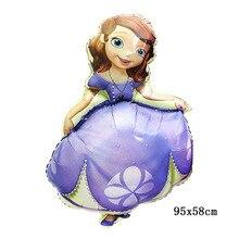 лучшая цена Sofia Princess balloons ballons inflatable helium foil mylar party decoration supplies wedding birthday custom printed balloons